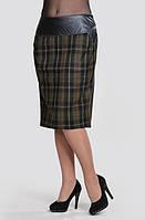 Юбка теплая черная шерсть женская карандаш ( Ю 009-1)