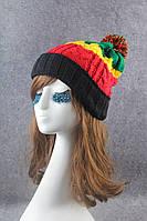 Стильная модная шапка Разноцветная