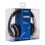 Навушники SVEN AP-940MV з мікрофоном чорно-біла гарнітура 4pin для смартфона + пк, фото 2