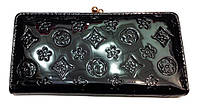 Женский кошелек Louis Vuitton 1001 разные цвета лаковый на защелке
