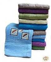 Полотенце банное Квадрат-2 голубое