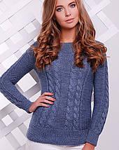 Женский вязаный свитер косой (133 mrs), фото 2