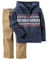 Костюм на мальчика 18-24 мес: худи-пуловер флис, штаны Carter's