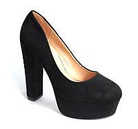 Туфли женские черные модные р. 36-40(39)