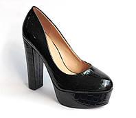 Женские черные модные туфли (р. 36-37)