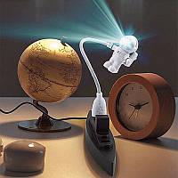 Ночник светильник Луноход подсветка клавиатуры USB кабель белый свет для ноутбука, фото 1