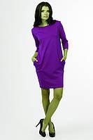 Платье туника женская с карманами и рукавом тричетверти длинна 90 см 42 44 46 48 50 Р