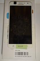 Дисплей Samsung J700 Galaxy J7 с сенсором Белый White оригинал , GH97-17670A, фото 3