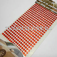 Стразы самоклеющиеся, на планшете, 5 мм, красные, 352 шт.