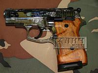 Стартовый пистолет Stalker 914 Shiny Chrome Engraved