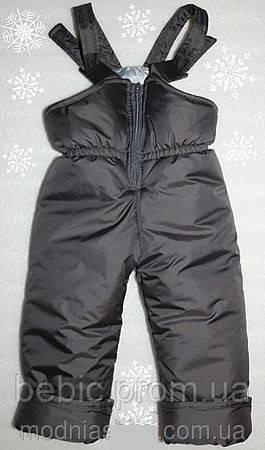 Теплый зимний полукомбинезон детский серый Рост: 92-98см
