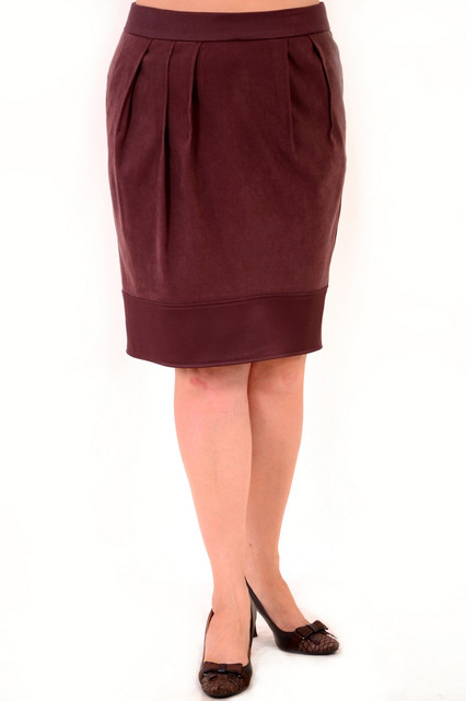 Юбка женская с драпировкой шоколад( Ю 051)
