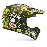 Мотошлем Bell MX-2 Skull Candy черный желтый L