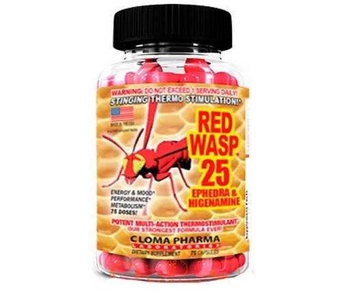 Жиросжигатель Cloma Pharma Red Wasp 25 75 капсул, фото 2