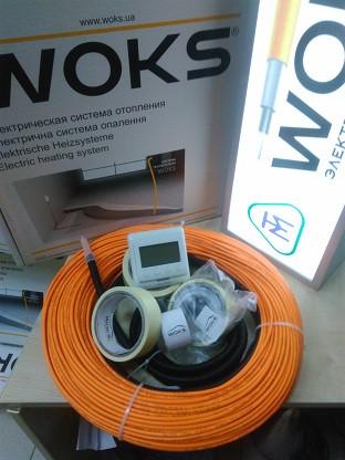 17м2 Тепла підлога 2430Вт під плитку 136м Woks тонкий нагрівальний кабель