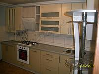 Кухня с крашеным матовым МДФ фасадом