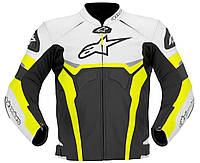 Мотокуртка ALPINESTARS Celer кожа черный белый желтый 54