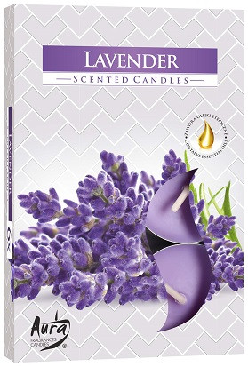 Свічка чайна ароматизована Bispol Лаванда 1.5 см 6 шт (p15-79)