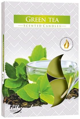 Свеча чайная ароматизированная Bispol Зеленый чай 1.5 см 6 шт (p15-83)