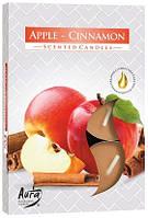 Свеча чайная ароматизированная Bispol Яблоко-корица 1.5 см 6 шт (p15-87)