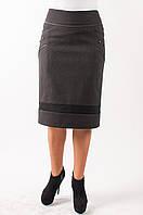 Женская юбка теплая черного цвета.