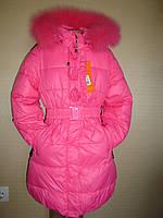 """Пальто для девочки зимнее"""" Роза"""" раз146."""