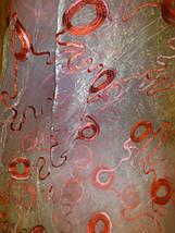 """Тюль органза """"Кольца"""" красный, фото 2"""