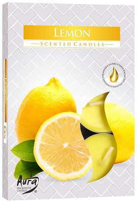 Свечи  ароматические  лимон