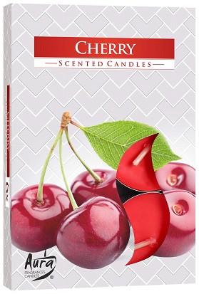 Свеча чайная ароматизированная Bispol Вишня 1.5 см 6 шт (p15-92)