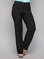 Брюки женские большого размера классика 6075, классические женские брюки, черные брюки женские, дропшиппинг, фото 1