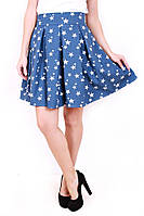 Юбка коттон звезда (3 цвета), джинсовая юбка, юбка со звездами, юбки оптом, дропшиппинг украина
