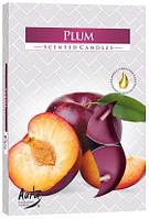 Свеча чайная ароматизированная Bispol Слива 1.5 см 6 шт (p15-123)