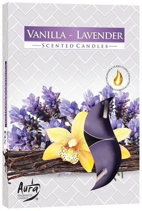 Свеча чайная ароматизированная Bispol Ваниль-лаванда 1.5 см 6 шт (p15-149)