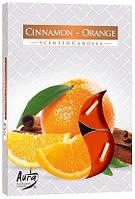 Свеча чайная ароматизированная Bispol Корица-апельсин 1.5 см 6 шт (p15-159)