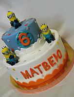Торт детский  Миньоны для мальчиков и девочек на заказ Харьков