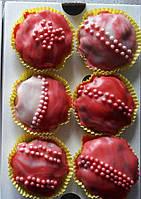 Капкейки домашние шоколадные в кондитерской глазури