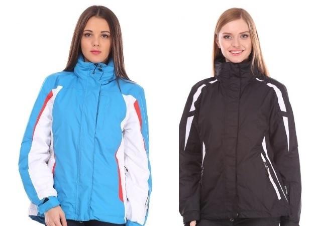 Горнолыжные женские термо куртки Crane S,M,L размеры черные и голубые