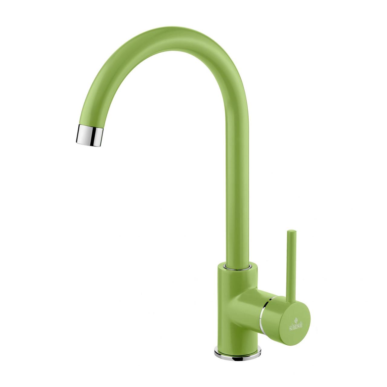 Cмеситель для мойки Deante MANGO, стоячий з изливом U, зеленый