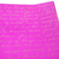 Пленка тонированная Письмо 200 гр 60см золотое на малиновом