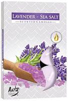 Свеча  ароматическая лаванда морская соль 6шт
