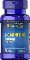 Л-карнитин Puritan's Pride L-carnitine 500 мг (120 капс) (103759) Фирменный товар!