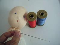 Иглы для вальдорфской куклы - вышивание глаз, рта, волос