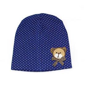 Дитяча шапка горошок, ведмедик