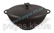 Каструля казан чавунний WOK з чавунною кришкою (3,5 л) мангал, печі, барбекю