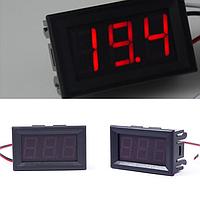 Цифровой вольтметр DC 0-99V (Красный) 3P
