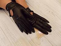 Перчатки кожаные авто короткие