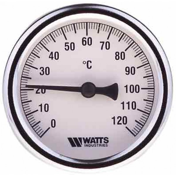 Термометр биметаллический Watts F+R801 100/50