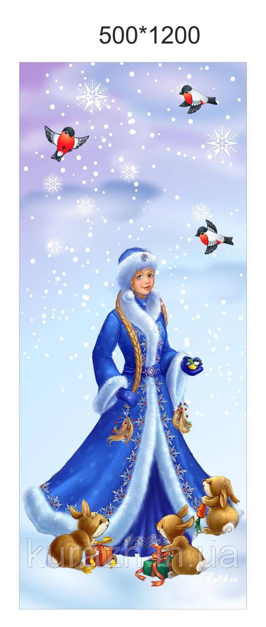 """Банер новорічний """"Снігуронька"""""""