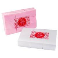 Безворсовые салфетки 1000  шт. Розовые