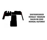 Коврик велюр RENAULT MAGNUM от 2002 SALON manual+automat/3011